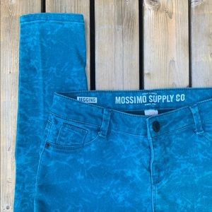 Mossimo Supply Co. Teal Patterned Jegging, Size 6